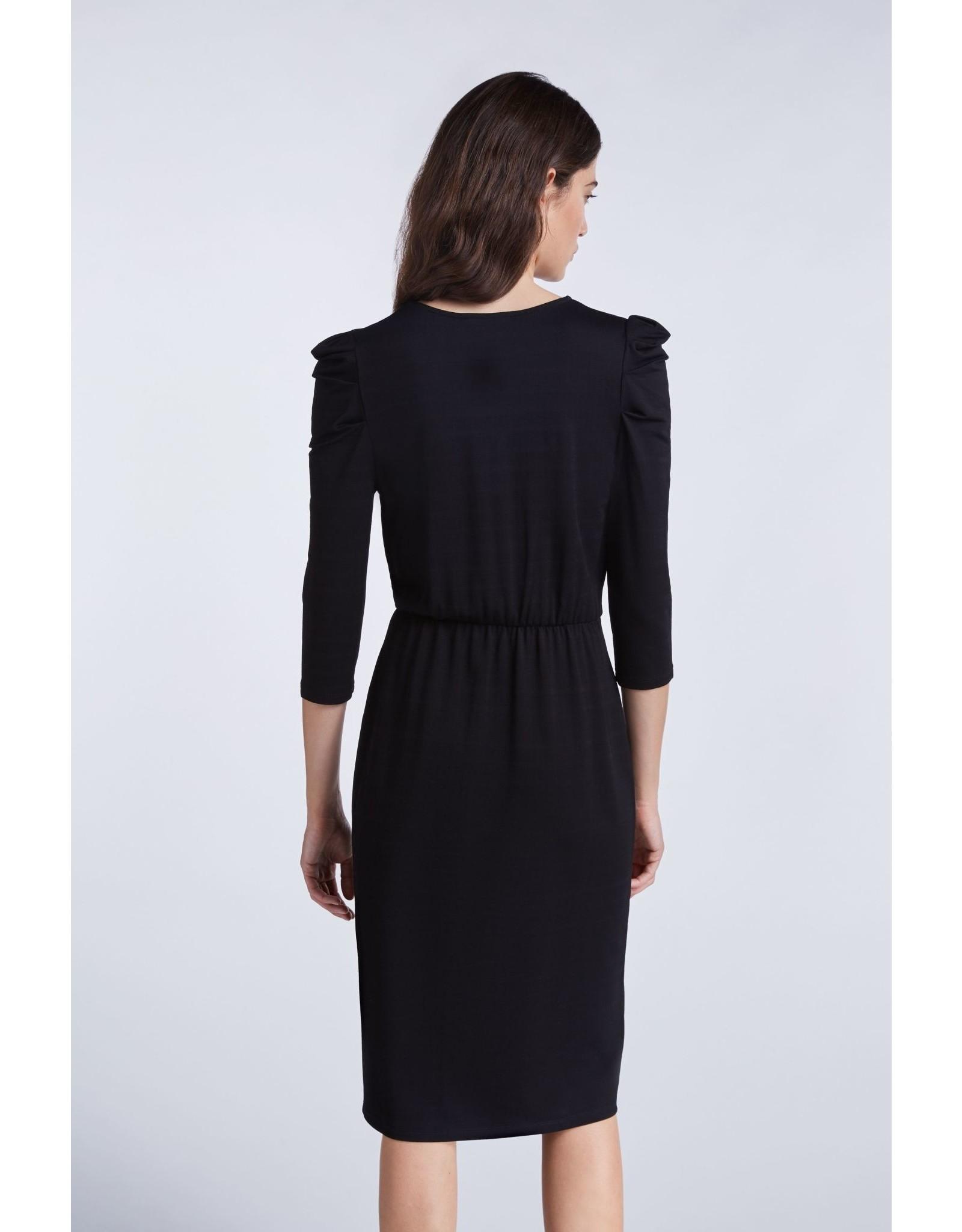 SET High-quality jersey dress black