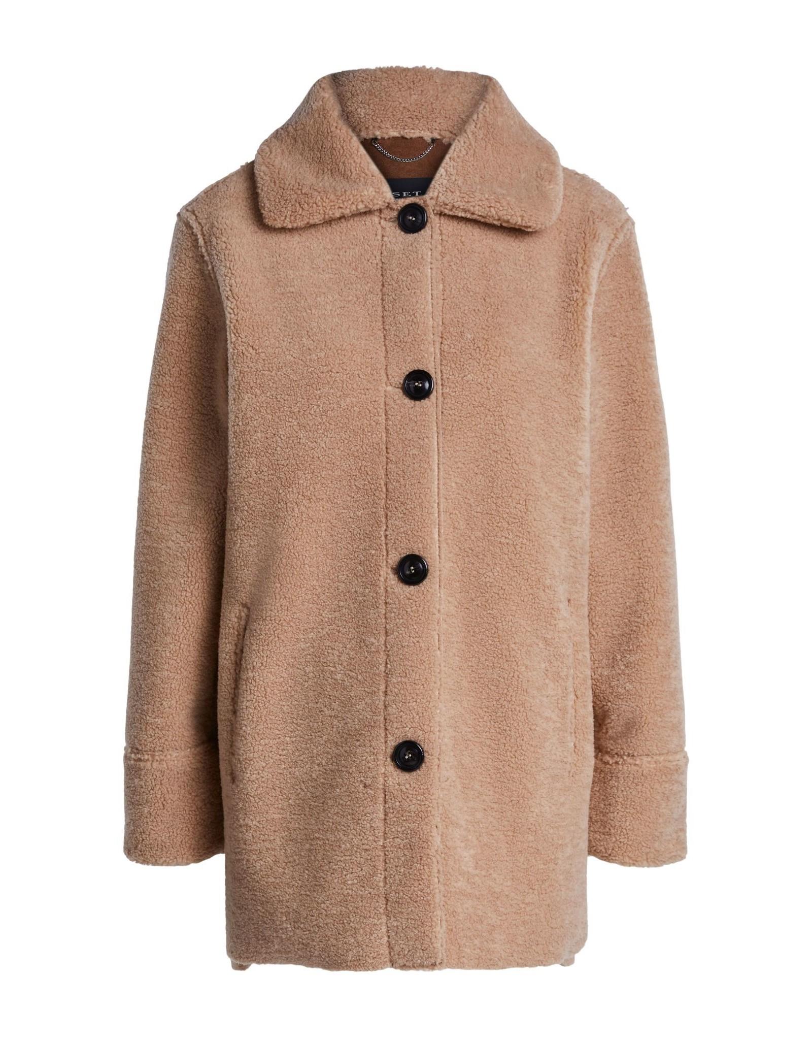 SET Oversized Teddy fur jacket 38