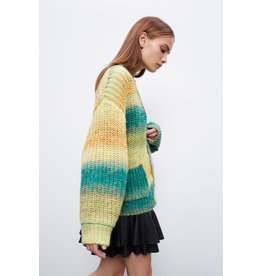 SET Structured cardigan in wool blend