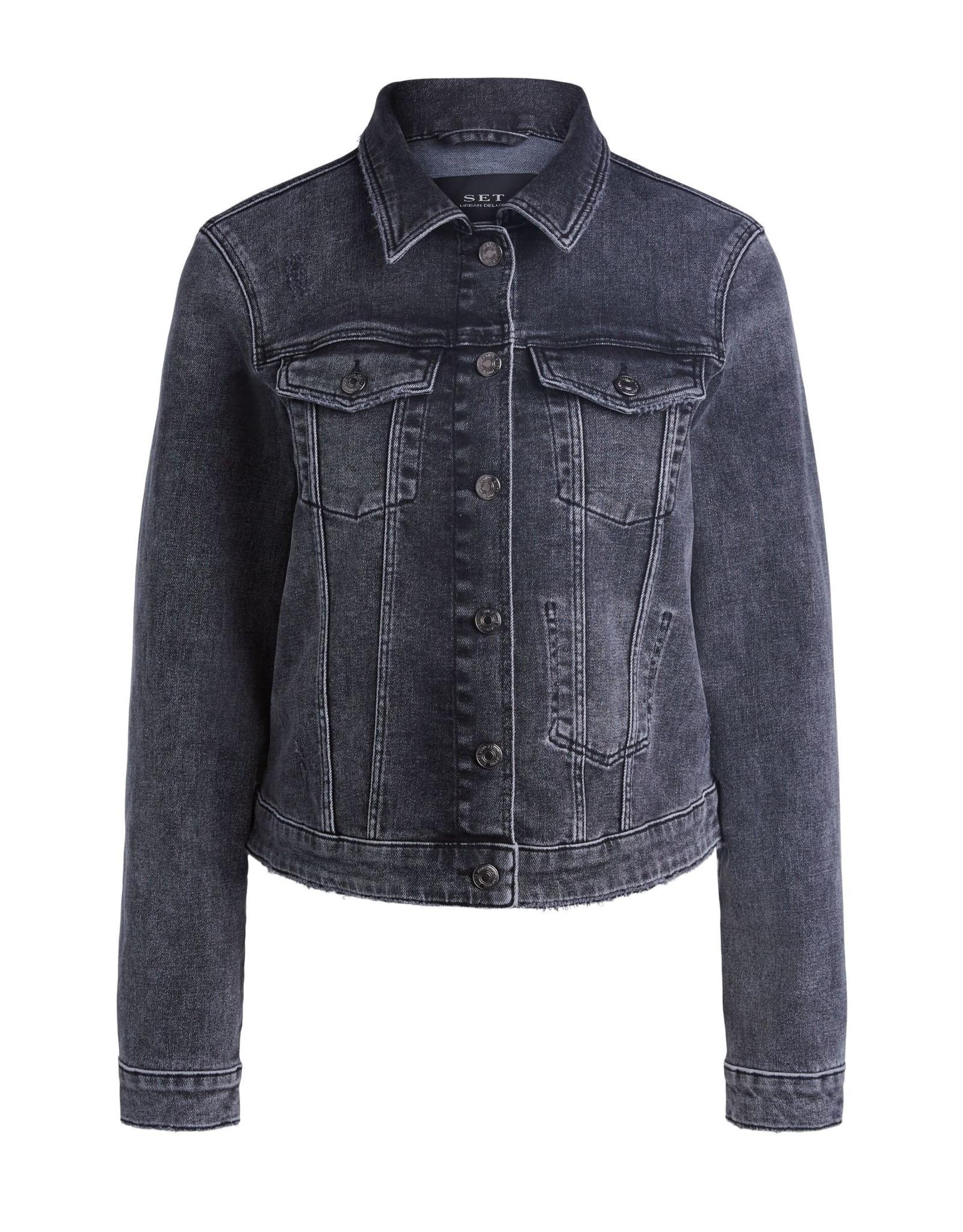 SET Dark grey denim jacket