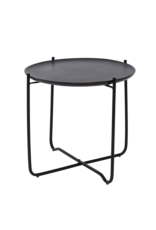 UNC Amsterdam COFFEE TABLE WITH SERVING TRAY FEZ, SHIZU BLACK SMALL