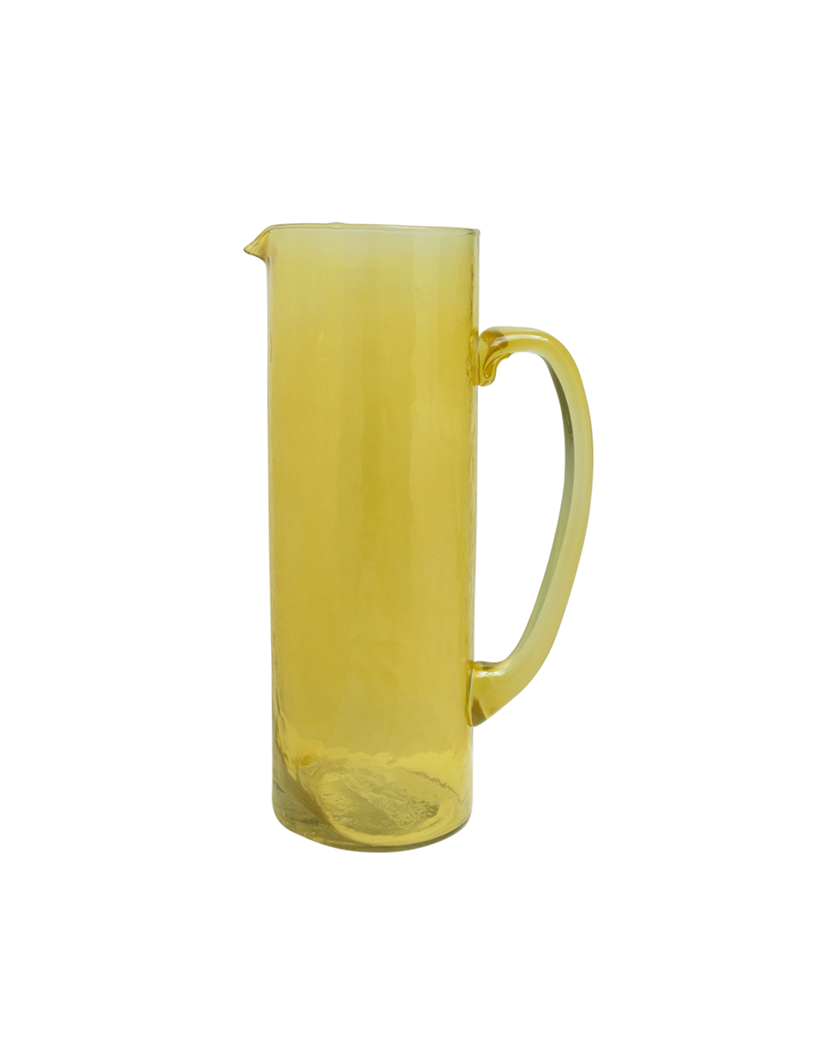 UNC Amsterdam JUG RECYCLED GLASS, YOLK YELLOW