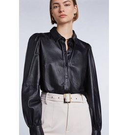 SET Leather blouse