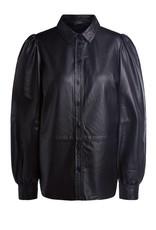 SET Leather blouse