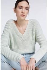 SET V-neck sweater mint green