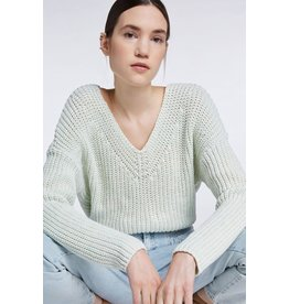 SET V-neck sweater mint green