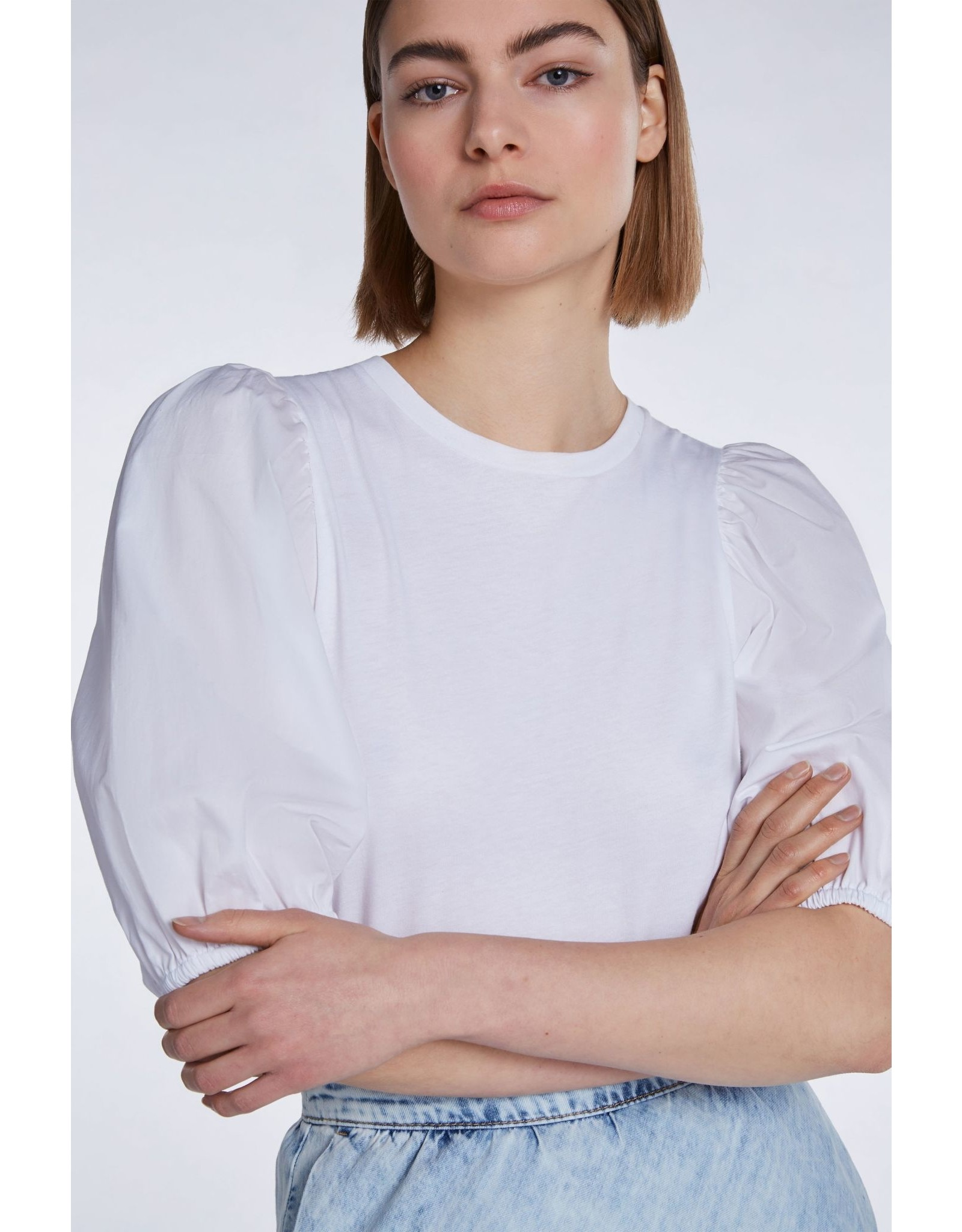 SET T- Shirt Blouse with puff sleeves