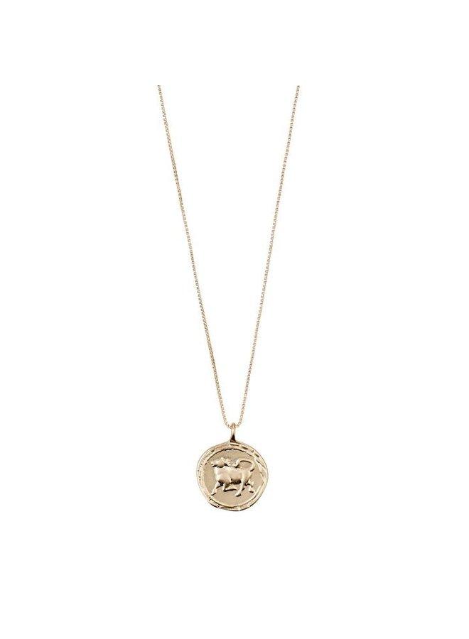 Taurus horoscoop ketting goud