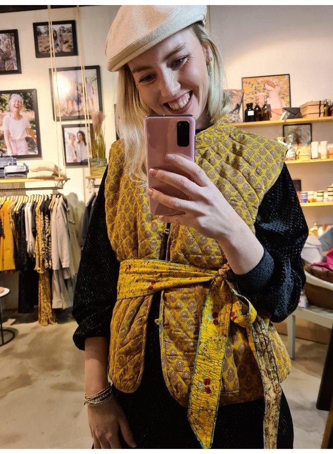 Sissel Edelbo Milla Quilted Silk Waistcoat nr. 54 maat S/M