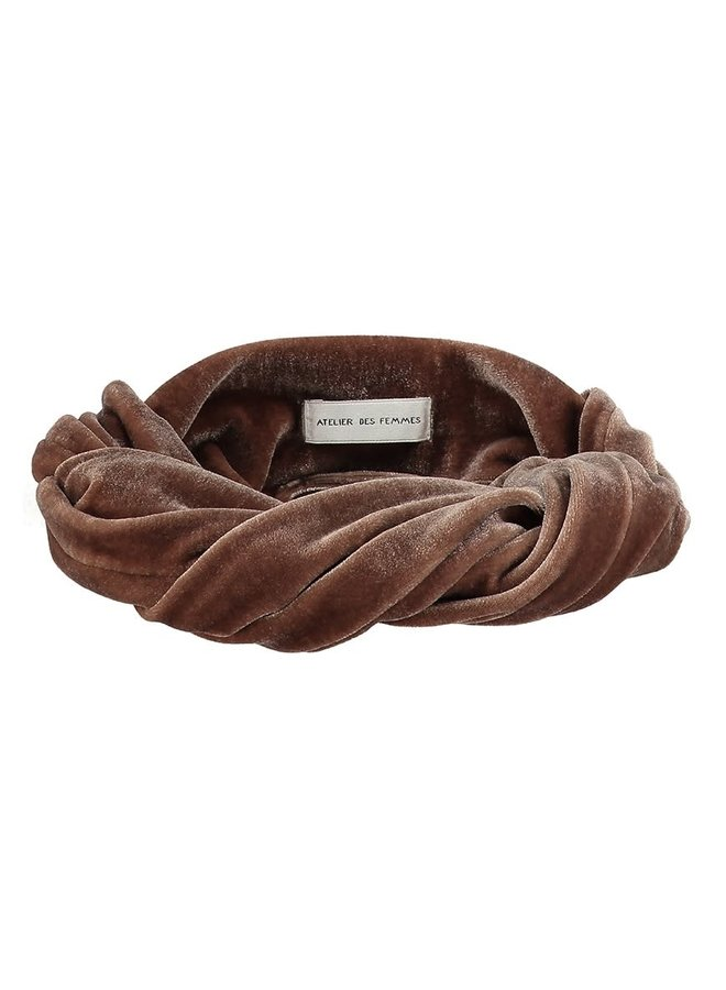 Atelier Des Femmes Velvet Taupe brown (Emilie) Haarband