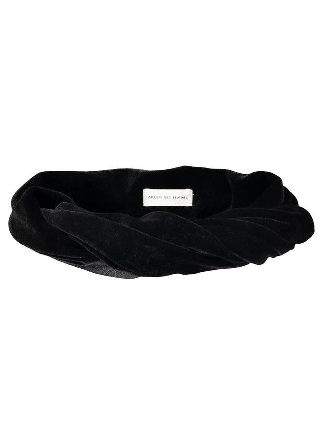 Atelier Des Femmes Velvet Zwart Haarband Tamar