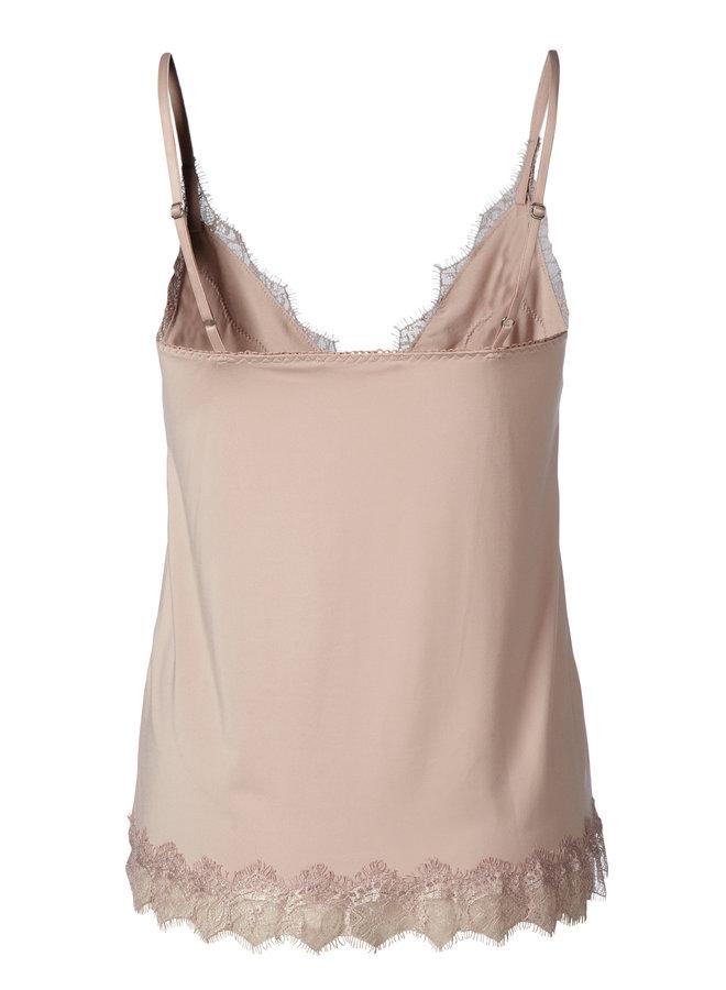 Rosemunde Strap Top Licht Roze Vintage