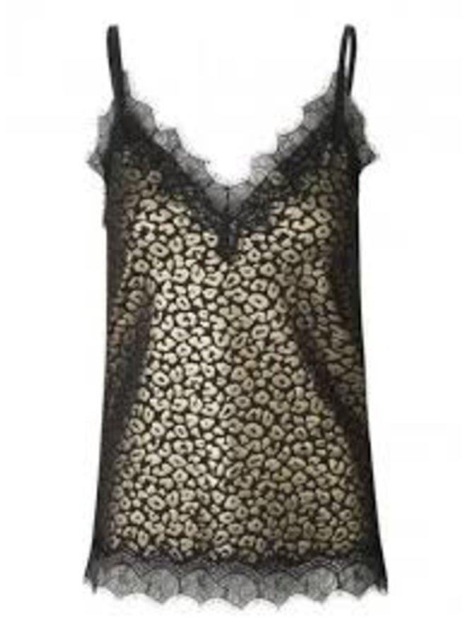 Rosemunde Strap Top Leopard Goud Print