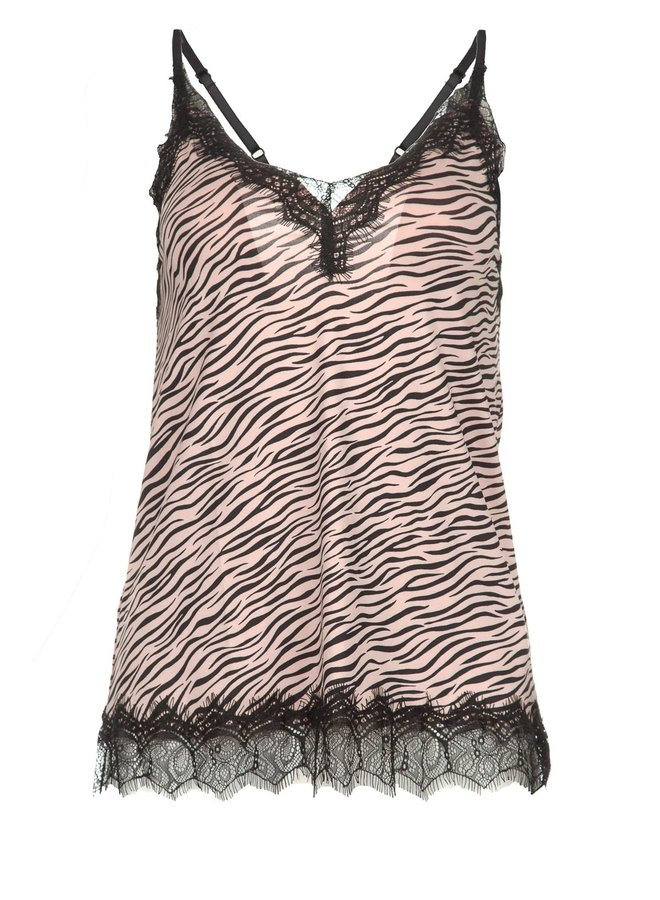 Rosemunde Strap Top Zebra Roze Print