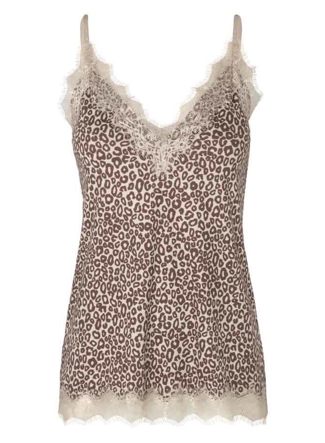 Rosemunde Strap Top Leopard Beige Print