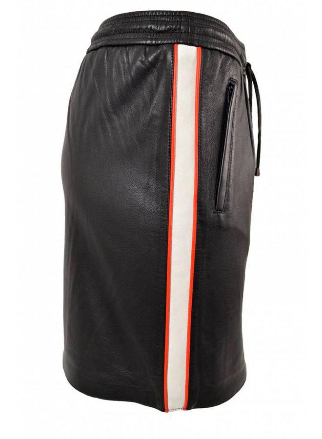 Second Female Ivana Leather Skirt Zwart