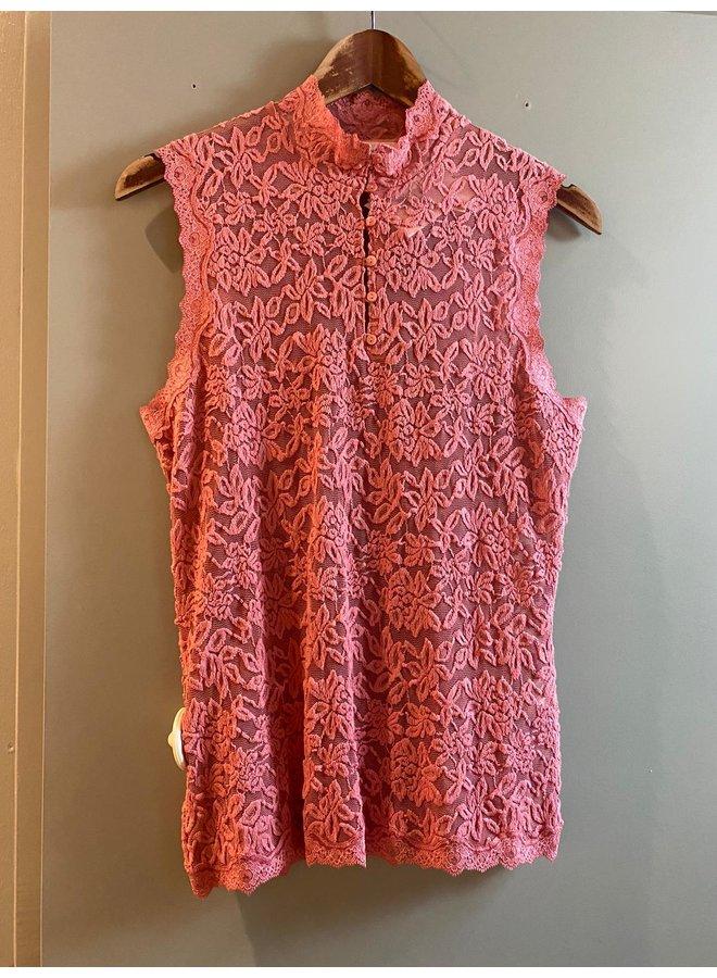 Rosemunde Kanten Top Mouwloos 5751 Pink Blush