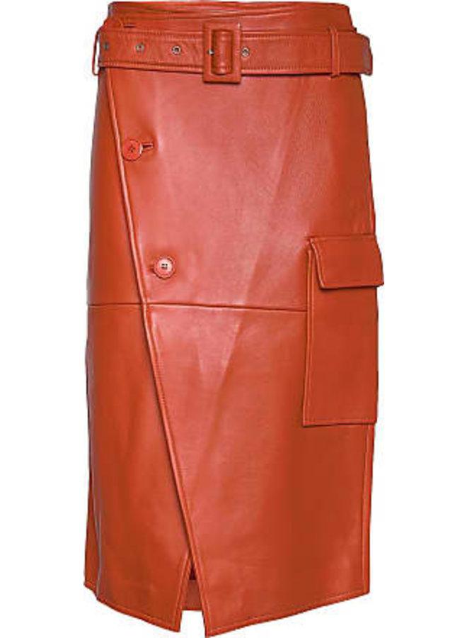 2nd Day Leather Skirt Oranje