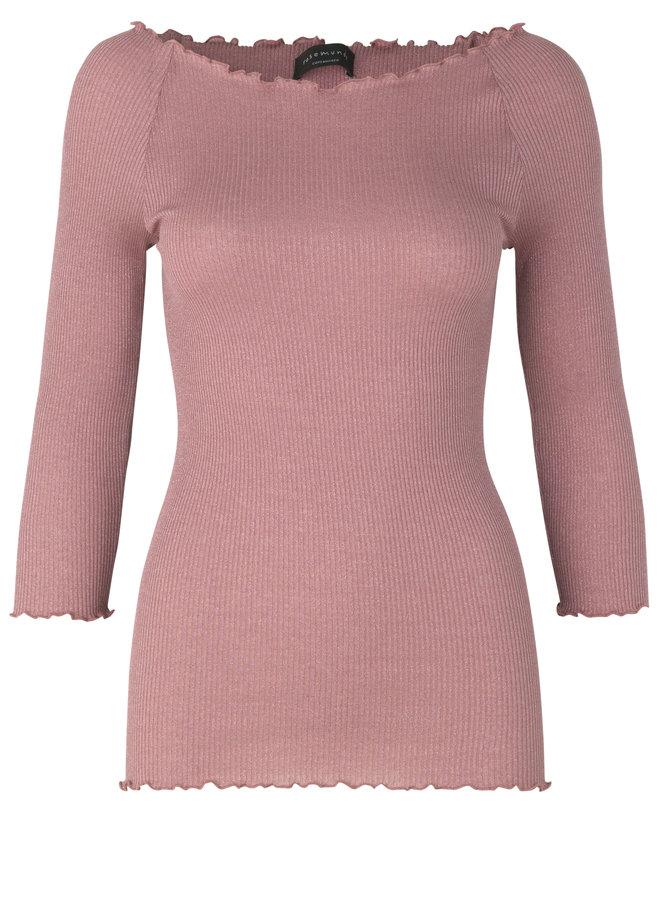 Rosemunde Shine LS Off Shoulder Top Roze