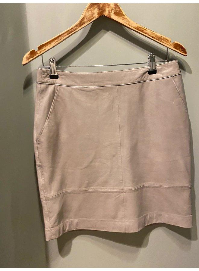 Gestuz Char Leather Mini Skirt Grijs