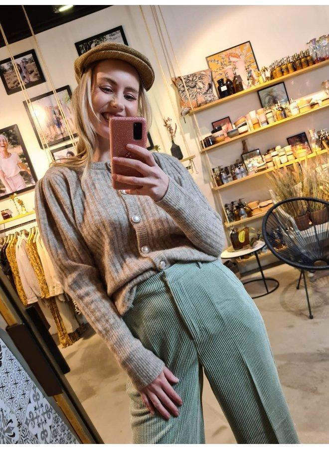 Gestuz Alpia Puff Cardigan Pure Cashmere