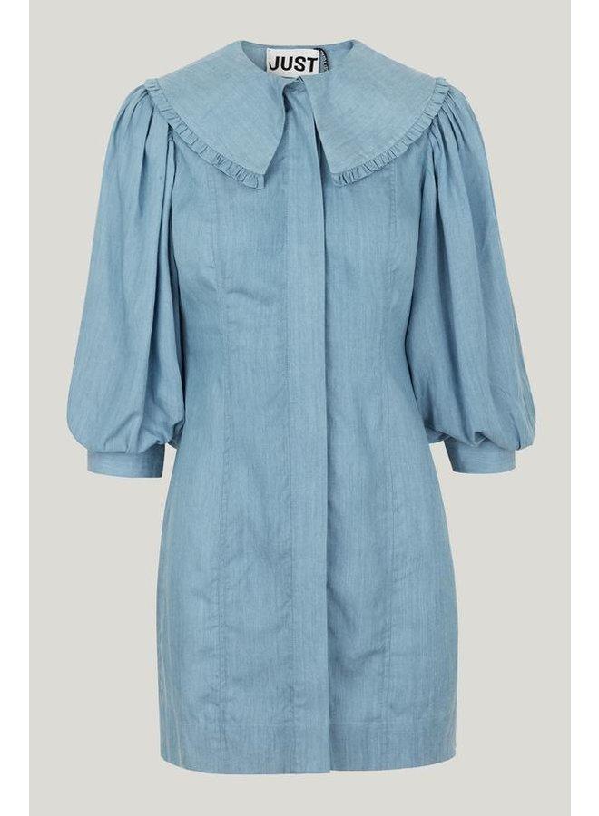 Just Female Texas Dress Light Blue