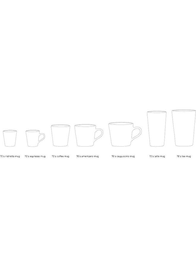 HK Living 70s ceramics Latte Mug - Frost