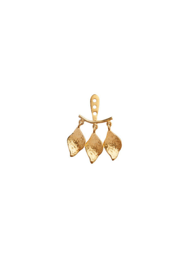 Stine A: Dancing Three Ile D'Amour Behind Ear Earring Gold