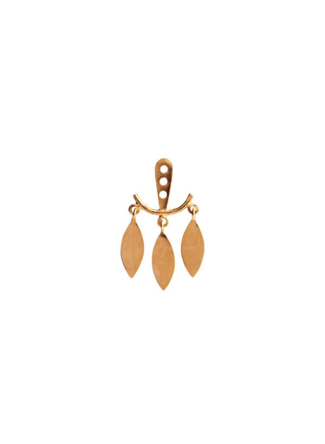 PRE ORDER Stine A: Dancing Three Leaves Behind The Ear Earring Gold