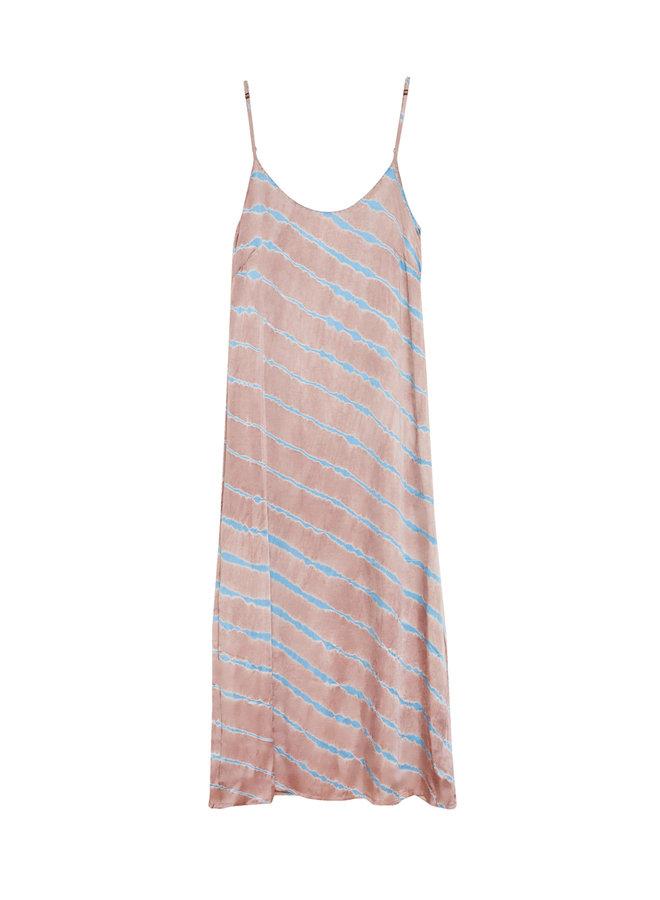 Bella Dress tie -dye Satin