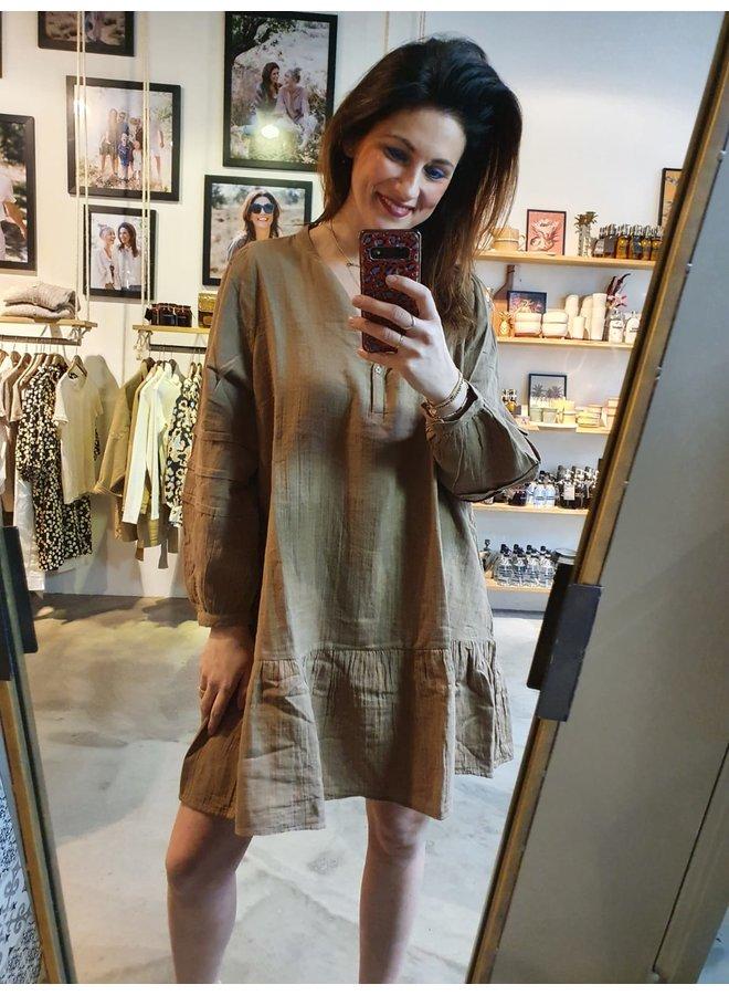 Sissel Edelbo Luna Organic Cotton Dress Camel