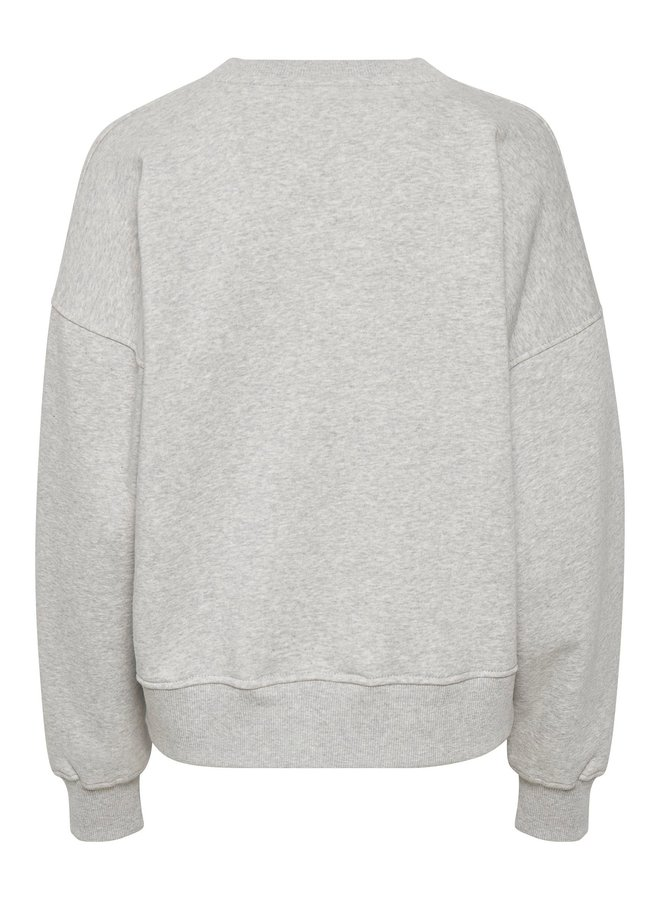 Gestuz Rubi Sweatshirt Noos Light Grey Melang