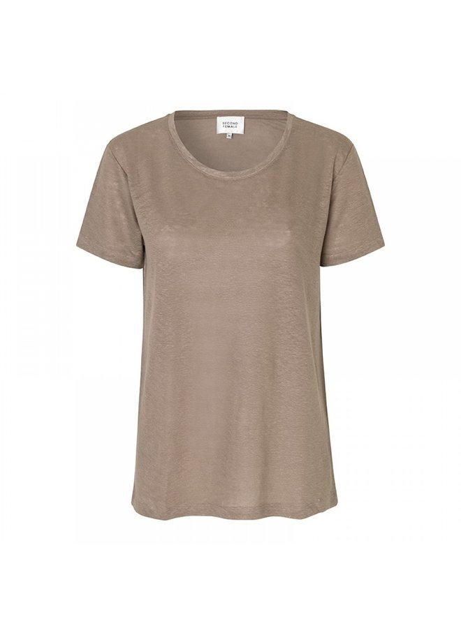 Second Female Peony O-Neck Tee Cinder