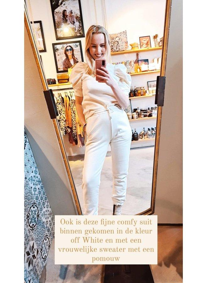 Second Female Miami Sweat Tee Off White
