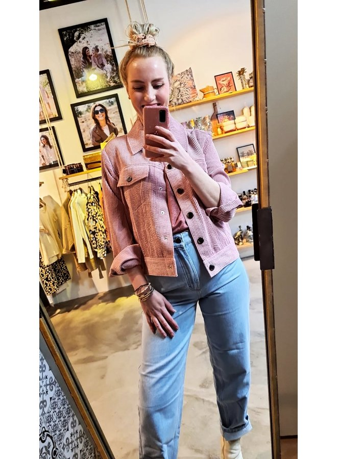 Second Female Boyas Jeans Jacket Lilas