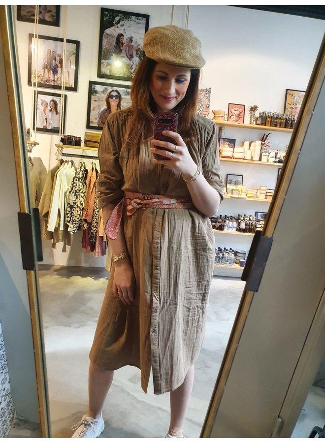 Sissel Edelbo Brave Organic Cotton Dress Camel