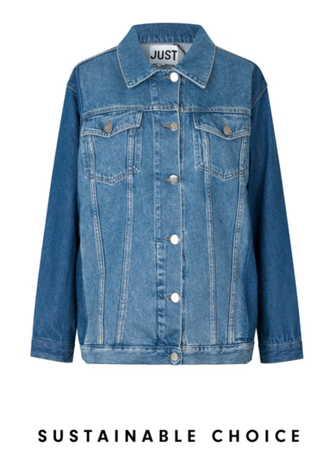 Just Female Thunder Jacket Middel Blue Mix
