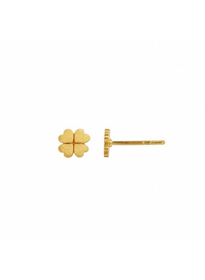 Stine A: Clover Earstick Piece Gold