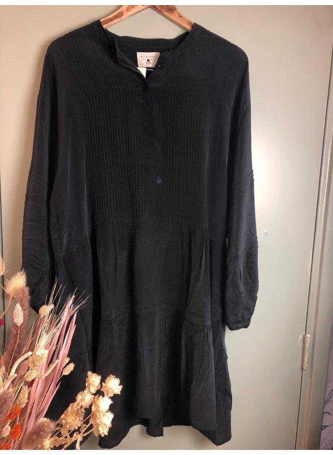 Karolina Noir Silk Dress zwart 27