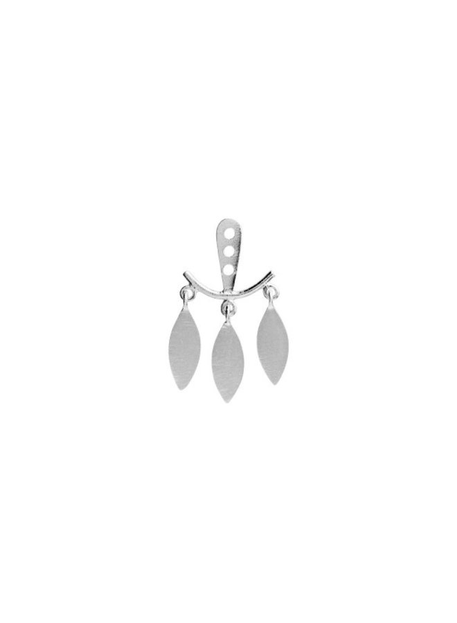 Stine A: Dancing Three Leaves Behind The Ear Earring Silver