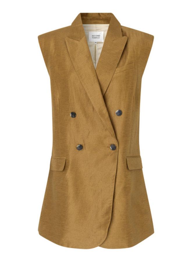Second Female Lia Waistcoat Bronze Brown