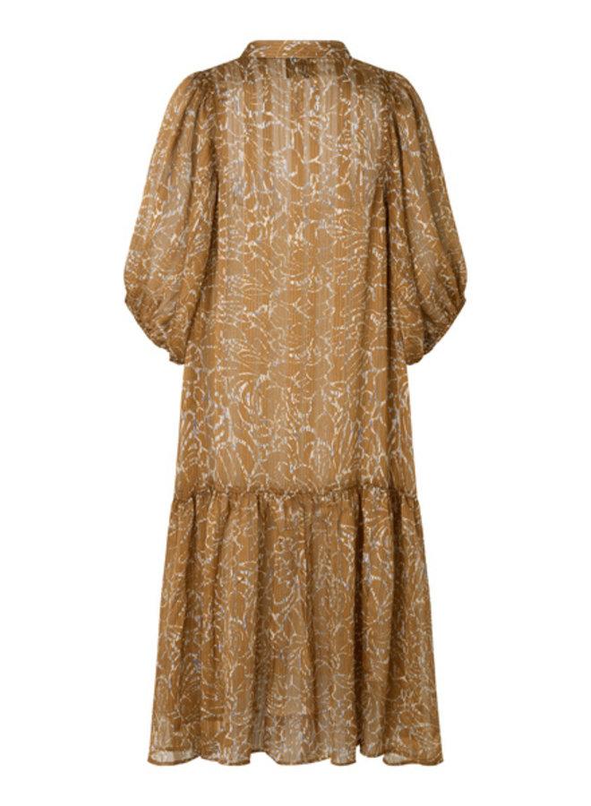 Second Female Fijito Dress Bronze Brown