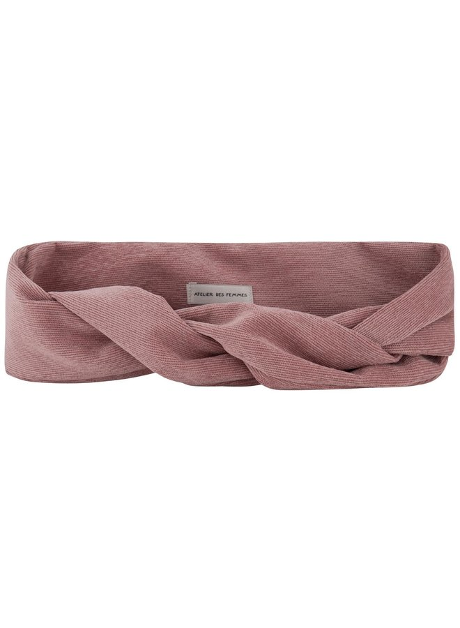 Atelier Des Femmes Corduroy Pink Rive Haarband