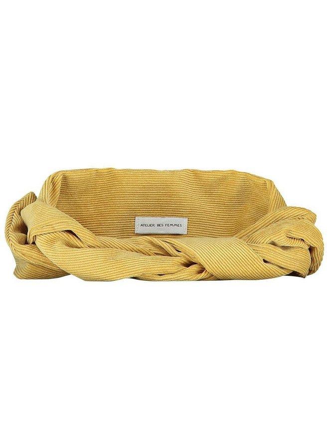 Atelier Des Femmes Corduroy Yellow Josje  Haarband