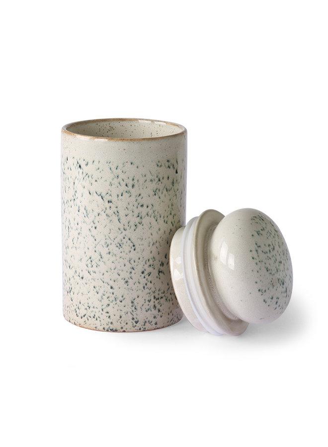 HK Living 70s ceramics Storage Jar - Hail