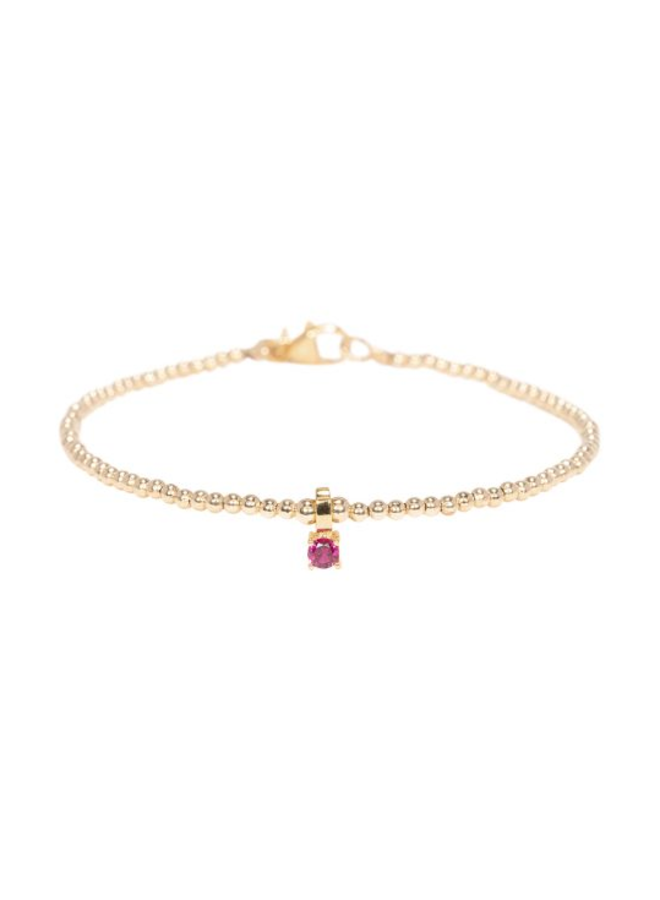 Miab armband goud - Ruby Charm