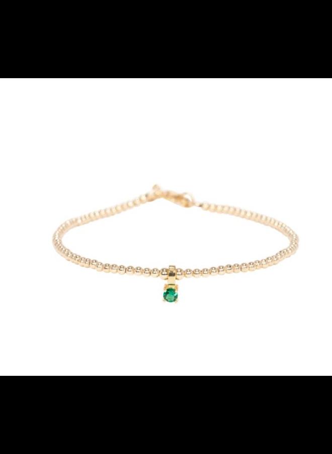 Miab armband goud - Emerald Charm