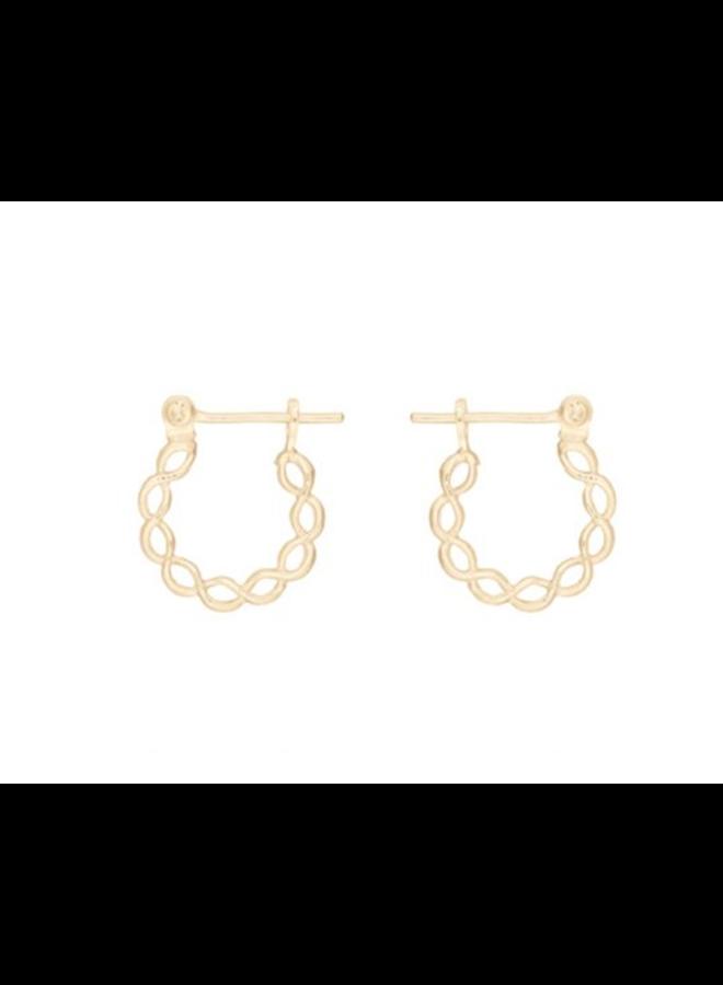 Miab oorbellen goud - Tressed