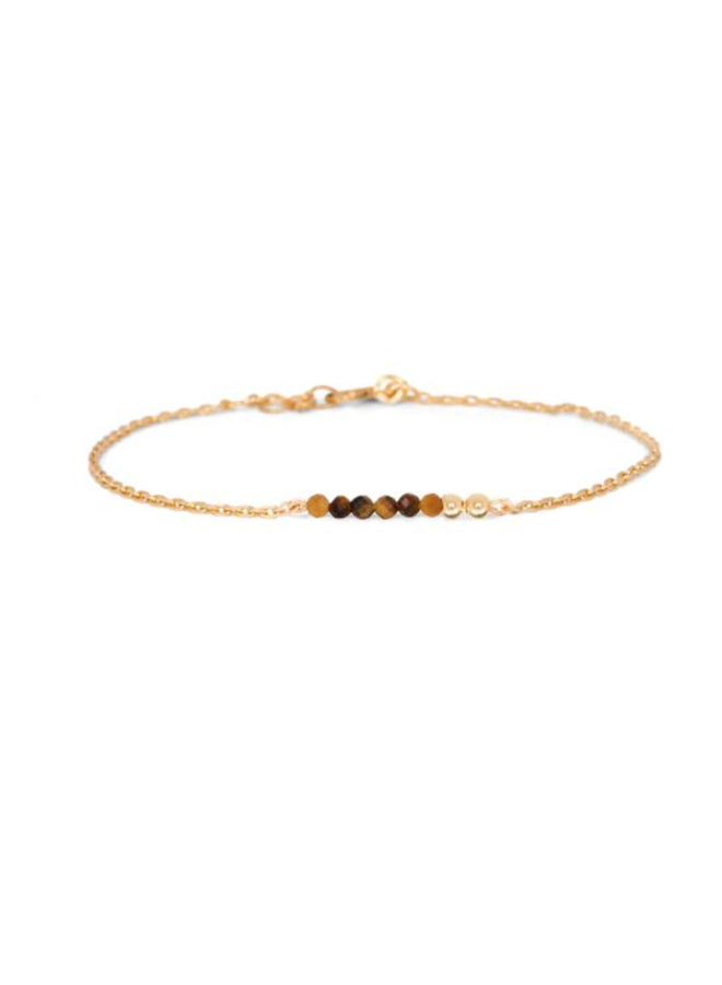 Miab armband goud - Tiger Eye Chain