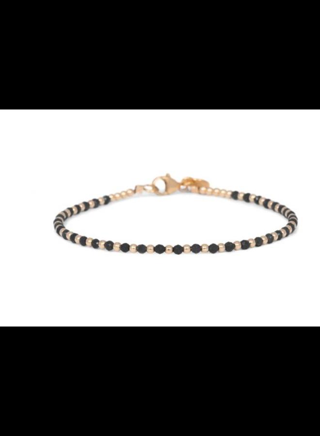 Miab armband goud - Black One By One